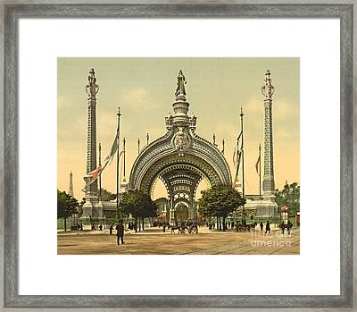 Paris 1900 Exposition Universal Grand Entrance Framed Print by Padre Art