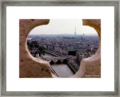 Paris And The Seine 1963 Framed Print