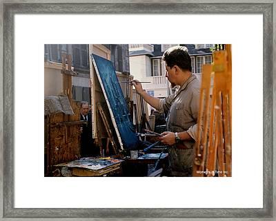 Paris Artist At Work 1964 Framed Print by Glenn McCurdy