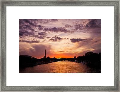 Paris At Dusk Framed Print