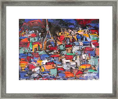 Paris At Night 02 Framed Print by Len Yurovsky