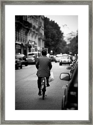 Framed Print featuring the photograph Paris By Bike by Edward Myers