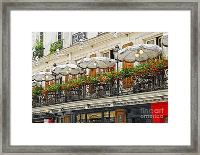 Paris Cafe Framed Print by Elena Elisseeva