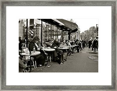 Framed Print featuring the photograph Paris Cafe by Eric Tressler