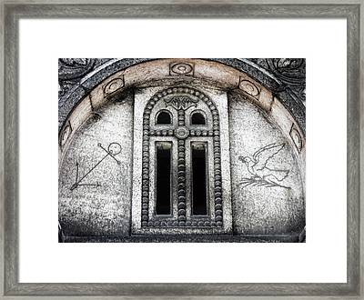 Paris Cemetery Etching Framed Print by Tony Grider