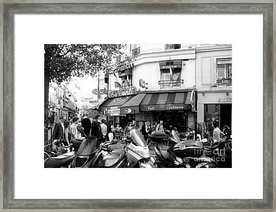 Paris Corner Framed Print by Tanya  Searcy