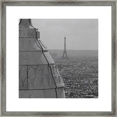 #paris #eiffel #tower #skyline Framed Print