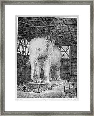 Paris: Elephant Monument Framed Print by Granger