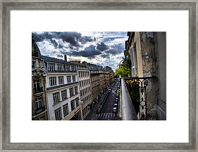 Framed Print featuring the photograph Paris From A Balcony by Edward Myers