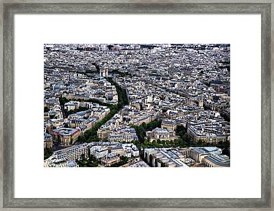 Framed Print featuring the photograph Paris From Above 2 by Edward Myers