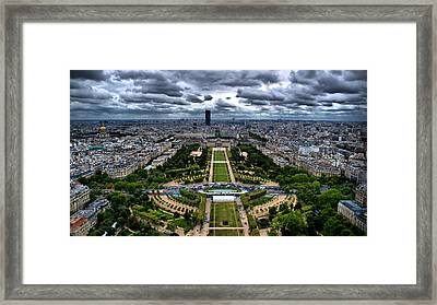 Framed Print featuring the photograph Paris From Above by Edward Myers