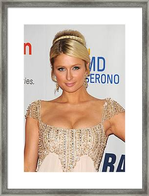 Paris Hilton At Arrivals For The 18th Framed Print by Everett