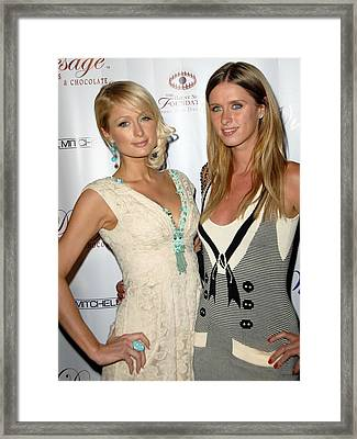 Paris Hilton, Nicky Hilton At Arrivals Framed Print by Everett