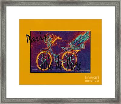Framed Print featuring the photograph Paris  Joie De Vivre by Glenna McRae
