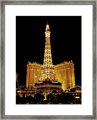 Paris Las Vegas 2012 003 Framed Print