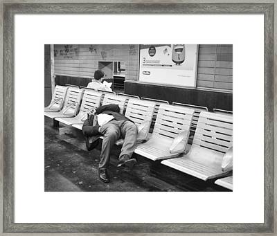 Framed Print featuring the photograph Paris Metro by Hugh Smith
