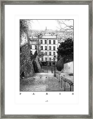 Paris - Montmartre Framed Print by ARTSHOT  - Photographic Art