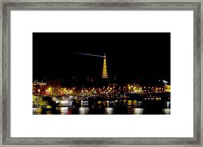Paris Night Framed Print by Keith Stokes
