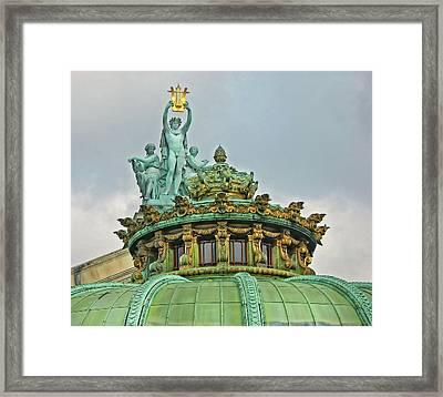 Paris Opera House Roof Framed Print