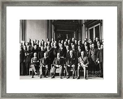 Paris Peace Conference Framed Print by Granger