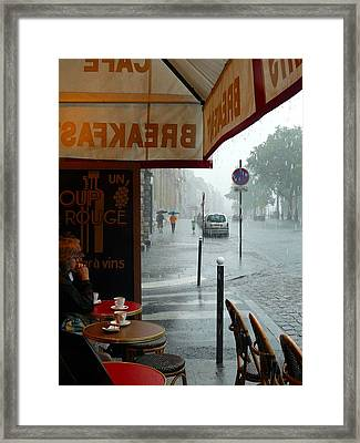 Framed Print featuring the photograph Paris Pluie by Rdr Creative