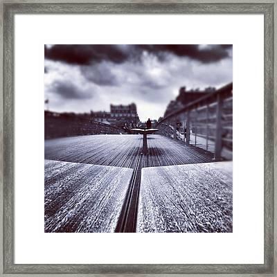 #paris Framed Print