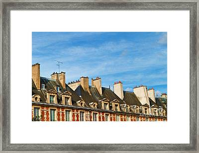 Framed Print featuring the photograph Paris Rooftops by Kim Wilson