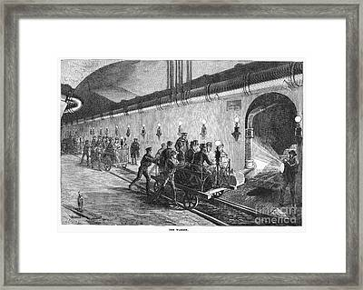 Paris: Sewers, 1869 Framed Print