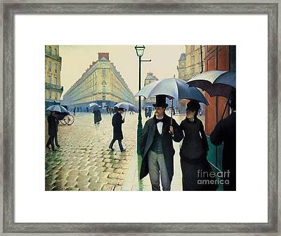 Paris Street - Rainy Day Framed Print