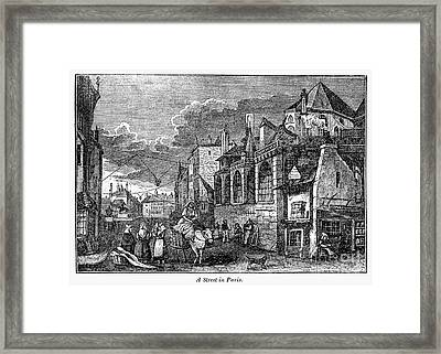 Paris: Street, 1830s Framed Print by Granger