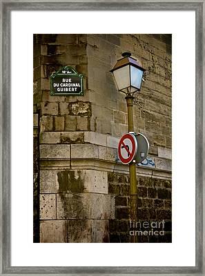 Paris Street Corner Framed Print