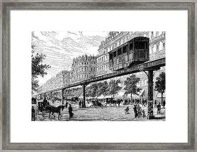 Paris: Tramway, 1880s Framed Print by Granger