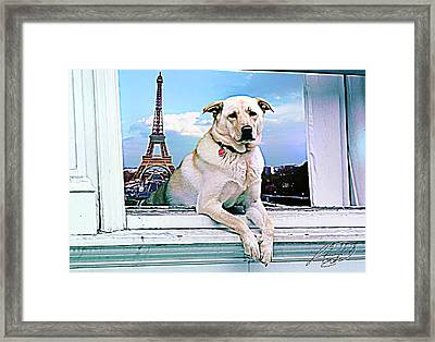 Paris Vacation Framed Print