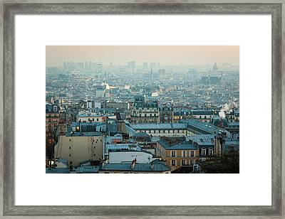 Paris View From Sacre-coeur Framed Print by Thanks for visiting my work !!