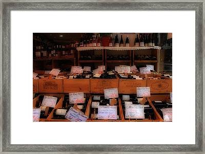 Paris Wine Shop Framed Print by Andrew Fare