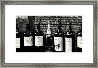 Paris Wine Shop Framed Print by Tony Grider