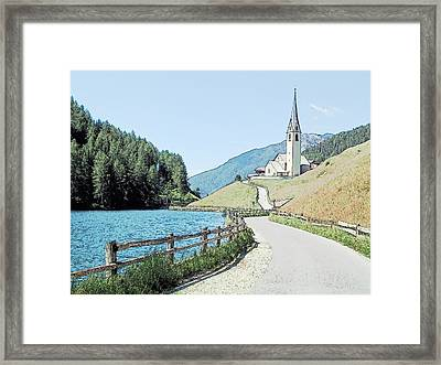 Parish Church St Nicholas Valdurna Italy Framed Print by Joseph Hendrix