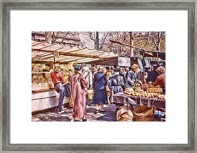 Parisian Market 1954 Framed Print