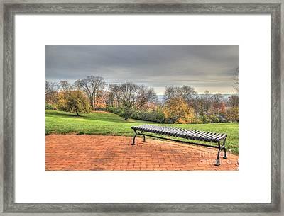 Park Bench Cincinnati Observatory Framed Print