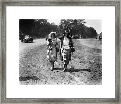 Park Fashions Framed Print by Morey