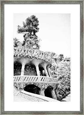 Park Guell Twists Framed Print