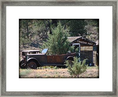 Parked At The Trading Post Framed Print by Athena Mckinzie