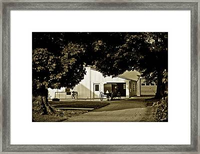 Parked Buggy - Lancaster Pennsylvania Framed Print by Madeline Ellis