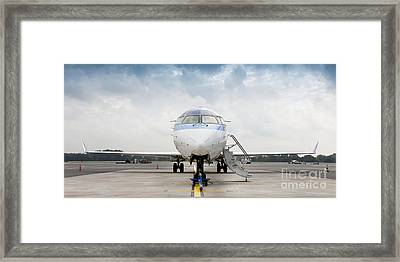 Parked Jet Airplane Framed Print
