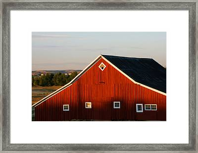 Framed Print featuring the digital art Parker Road Barn by Brian Davis