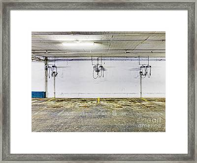 Parking Garage With Charging Stalls Framed Print by Skip Nall