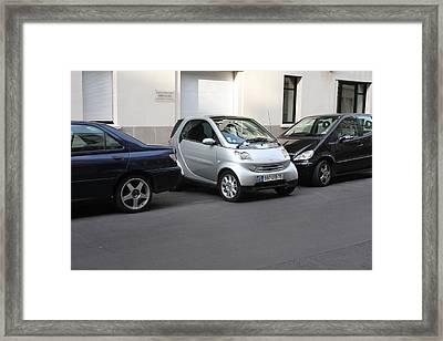 Parking In Paris Framed Print