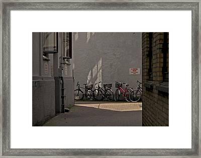 Parking In Rear Framed Print by Odd Jeppesen