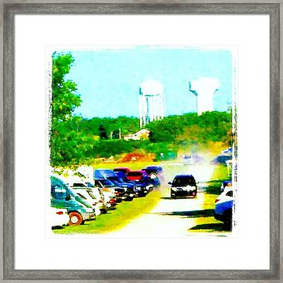 Parking Lot #android #andrography Framed Print