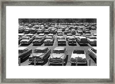 Parking Lot Full Of Cars Framed Print by George Marks